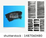 large collection of hand made... | Shutterstock .eps vector #1487060480