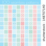 set of 100 vector seamless... | Shutterstock .eps vector #148707140