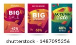 set of bright posters fer big... | Shutterstock .eps vector #1487095256