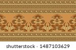 seamless traditional indian... | Shutterstock . vector #1487103629
