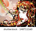 art colorful illustration of... | Shutterstock . vector #148711160