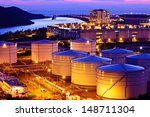 oil tank during sunset | Shutterstock . vector #148711304