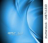 abstract blue waves design.... | Shutterstock .eps vector #148711310
