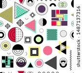 seamless pattern with modern... | Shutterstock .eps vector #1487137316