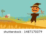 Halloween Day Background With...