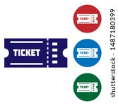 blue ticket icon isolated on... | Shutterstock .eps vector #1487180399