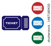 blue ticket icon isolated on... | Shutterstock .eps vector #1487180420