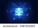 fingerprint integrated in a... | Shutterstock .eps vector #1487201003