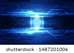 fingerprint integrated in a... | Shutterstock .eps vector #1487201006