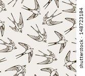 seamless pattern with hand... | Shutterstock . vector #148723184