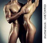 art photo of nude sexy couple... | Shutterstock . vector #148724903