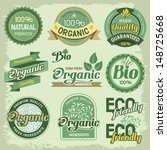 set of organic  eco and bio... | Shutterstock .eps vector #148725668