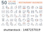 set of vector line icons of... | Shutterstock .eps vector #1487257019