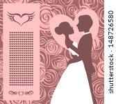 wedding invitation. silhouette... | Shutterstock .eps vector #148726580
