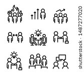 set of meeting icons  such as... | Shutterstock .eps vector #1487277020