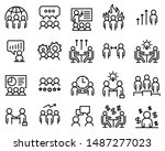set of meeting icons  such as... | Shutterstock .eps vector #1487277023