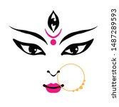 kali goddess in hinduism  her... | Shutterstock .eps vector #1487289593
