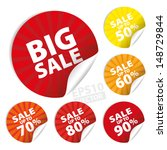big sale stickers and tags with ... | Shutterstock .eps vector #148729844