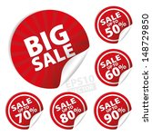 big sale stickers and tags with ... | Shutterstock .eps vector #148729850