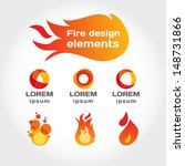 fire vector isolated elements...