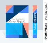 vector abstract design  cover... | Shutterstock .eps vector #1487322833