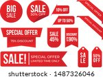 red special discount collection ... | Shutterstock .eps vector #1487326046