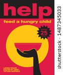 help feed a hungry child....   Shutterstock .eps vector #1487345033