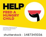 help feed a hungry child....   Shutterstock .eps vector #1487345036