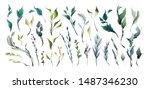 wedding invitation frame set ... | Shutterstock .eps vector #1487346230