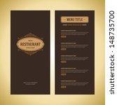 restaurant or cafe menu vector... | Shutterstock .eps vector #148735700