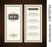 restaurant or cafe menu vector... | Shutterstock .eps vector #148735763