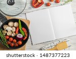 Recipe Book With Copy Space For ...