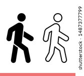 walk icon in modern flat design ... | Shutterstock .eps vector #1487377799