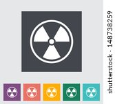 radioactivity. single flat icon....   Shutterstock .eps vector #148738259