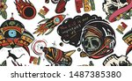 space adventure. sci fi... | Shutterstock .eps vector #1487385380