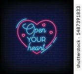 open your heart for poster in...   Shutterstock .eps vector #1487391833