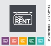 For rent. Single flat icon. Vector illustration.