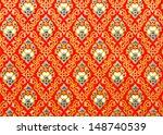 fabric background of batik... | Shutterstock . vector #148740539