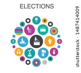 elections infographic circle...