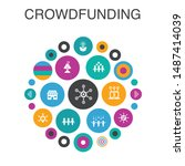 crowdfunding infographic circle ...