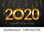 2020 new year greeting card... | Shutterstock .eps vector #1487422733