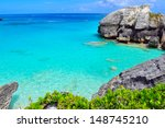 beautiful bermuda beach and...