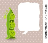 cartoon pea pod with speech... | Shutterstock .eps vector #148746938