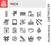 set of pack icons such as... | Shutterstock .eps vector #1487491199
