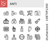 set of anti icons such as soap  ... | Shutterstock .eps vector #1487491340