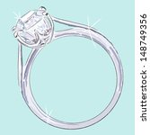 diamond ring. hand drawn... | Shutterstock .eps vector #148749356