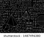math vector seamless pattern... | Shutterstock .eps vector #1487496380