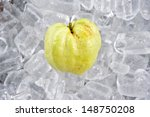 Guava on ice - stock photo