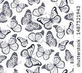 vector vintage hand drawn... | Shutterstock .eps vector #1487521943
