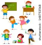 set of kids at school | Shutterstock . vector #148753568